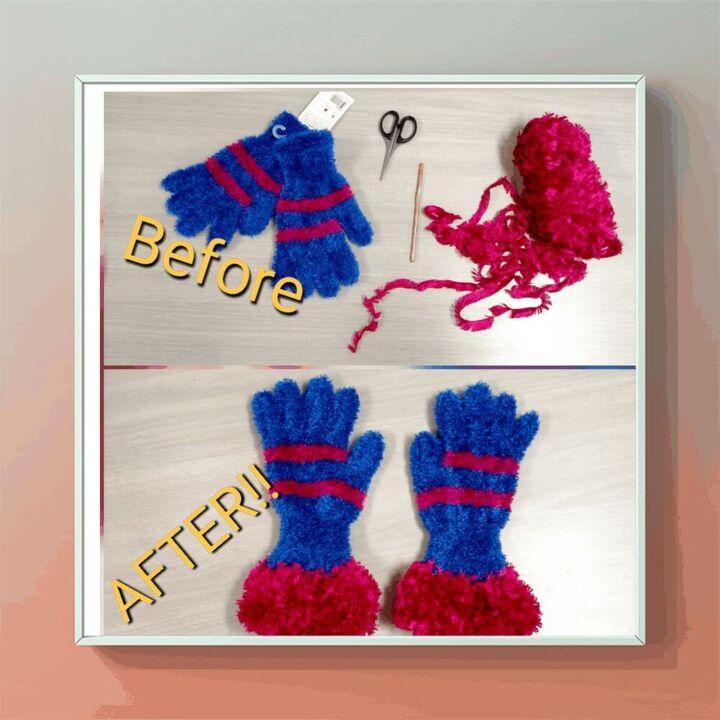 crochet custom glove cuffs