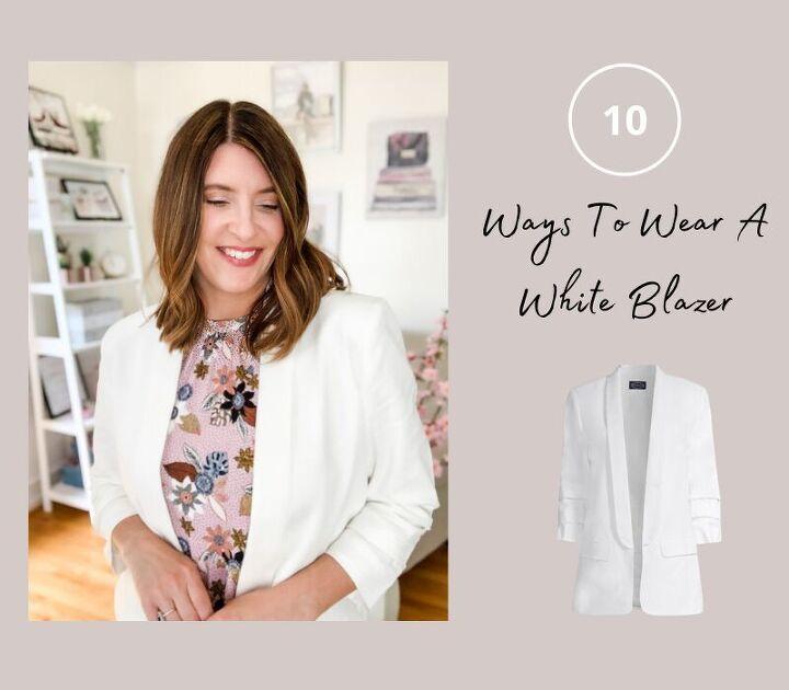 10 ways to wear a white blazer