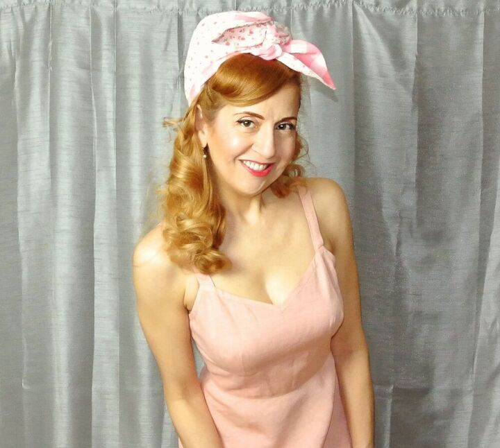 how to create a retro 1950s headscarf look