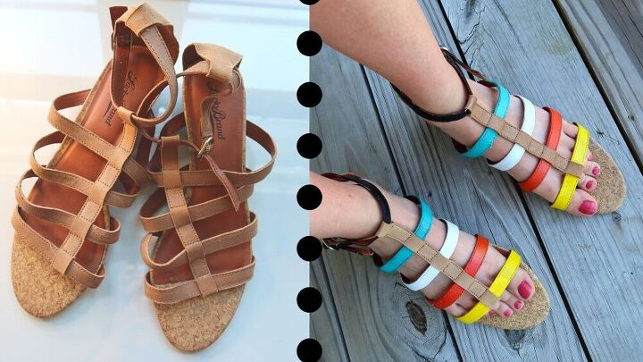 how to add color to your summer sandals