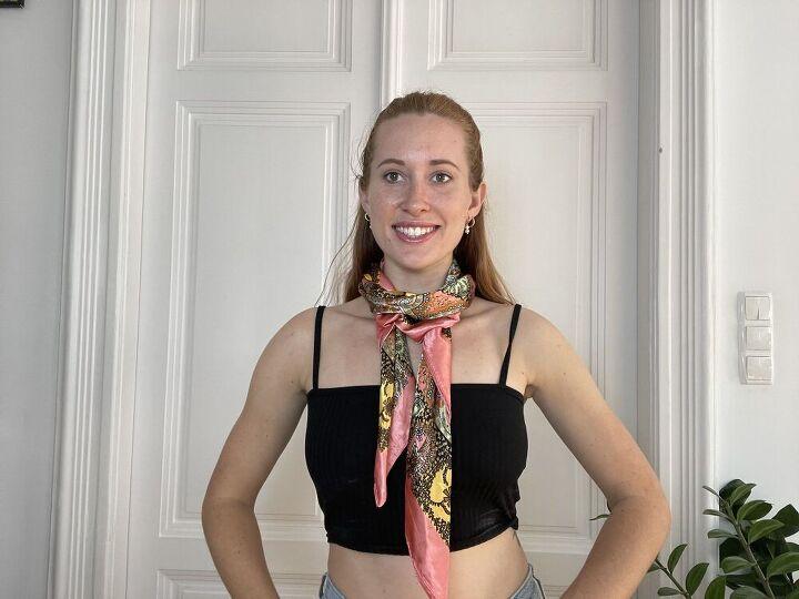 three cute ways to style a scarf