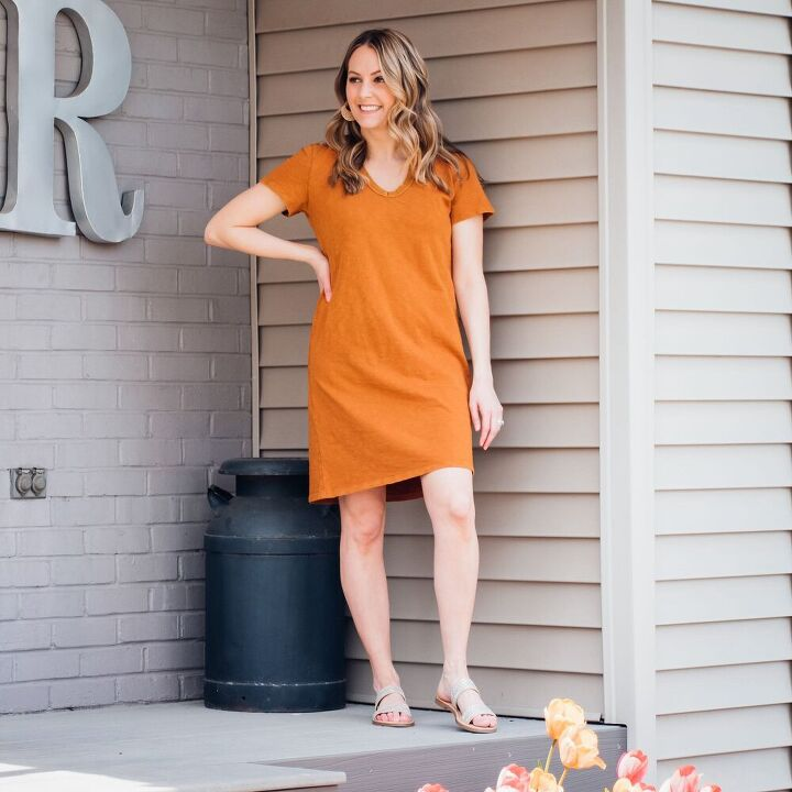 how to style a t shirt dress