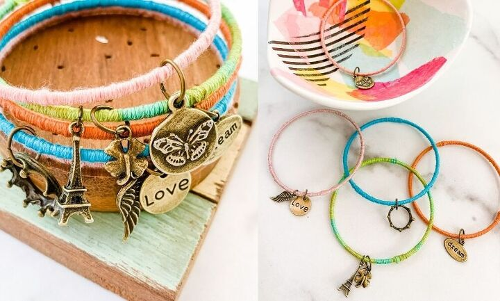 how to make bracelets with embroidery thread and charms