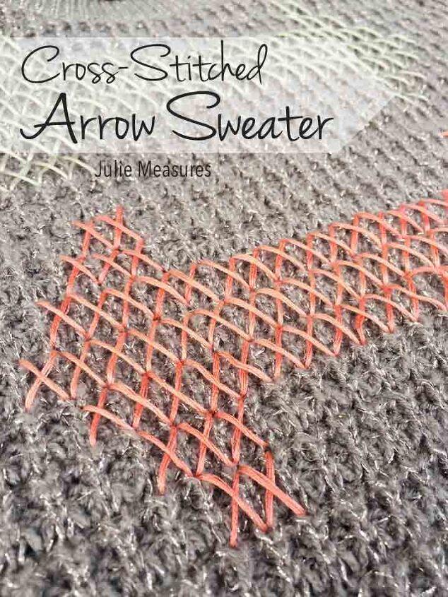 how to make a cross stitch sweater