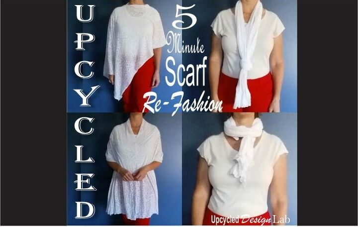 5 minute scarf refashion for diy mothers day gift plus 8 more ideas