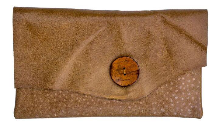 leather diy clutch purse