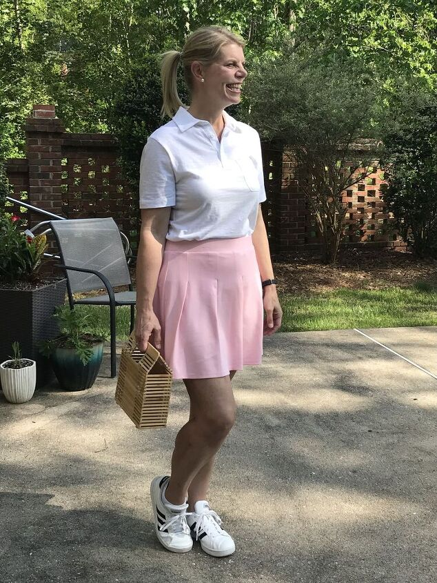 pink classic elegant and glamourous, Out About Errands or Country Club Look
