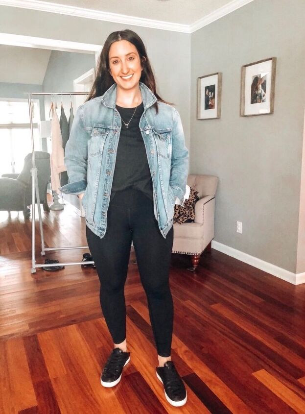 6 ways to style black leggings