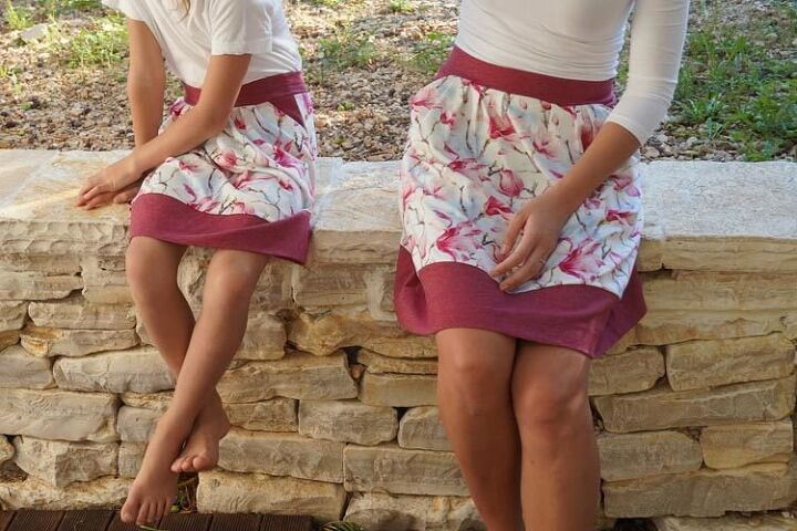 how to sew a pleated skirt from knit paradise