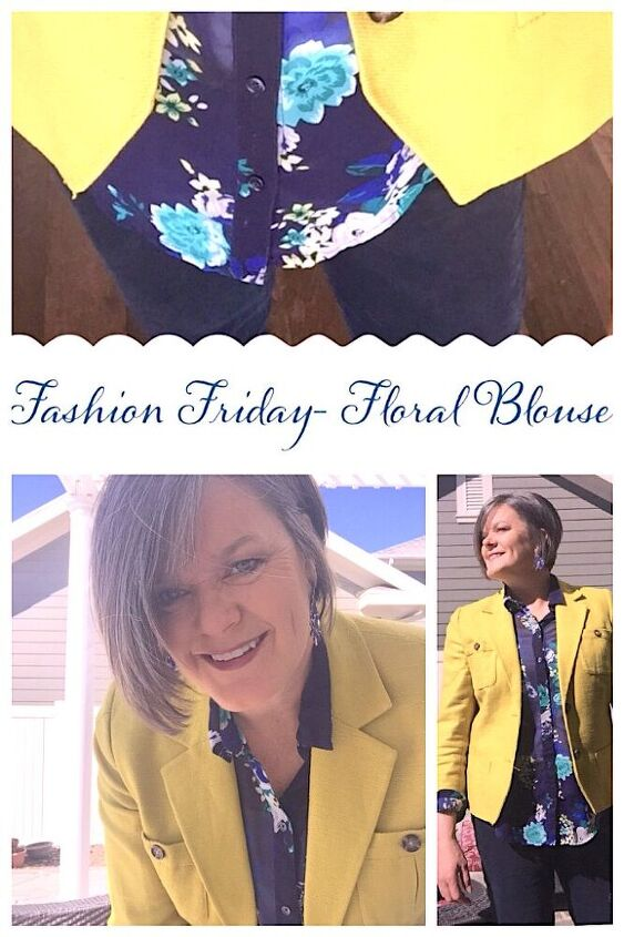 fashion friday how to style floral blouse with linen jacket