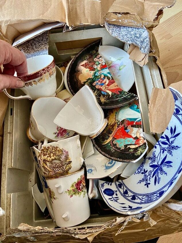 how to create on trend accessories for a fraction of the cost, Old crockery