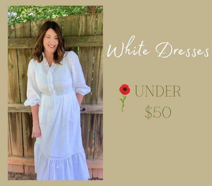 white dresses under 50