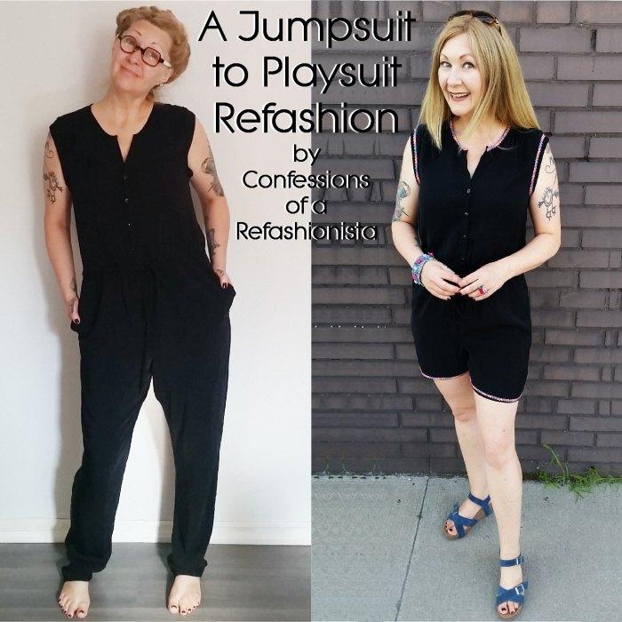 jumpsuit to playsuit refashion