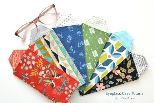 eyeglass case tutorial with printable pattern
