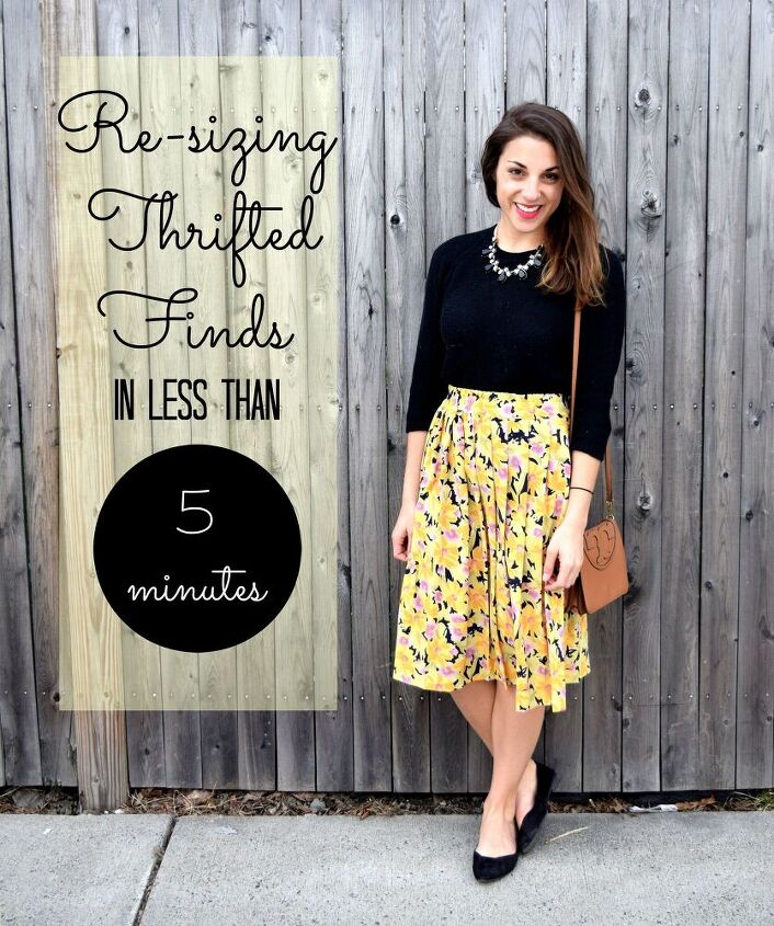 re sizing thrifted finds in 5 minutes skirt refashion tutorial on