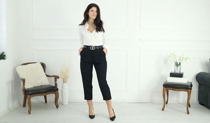 black trousers style, Style black trousers