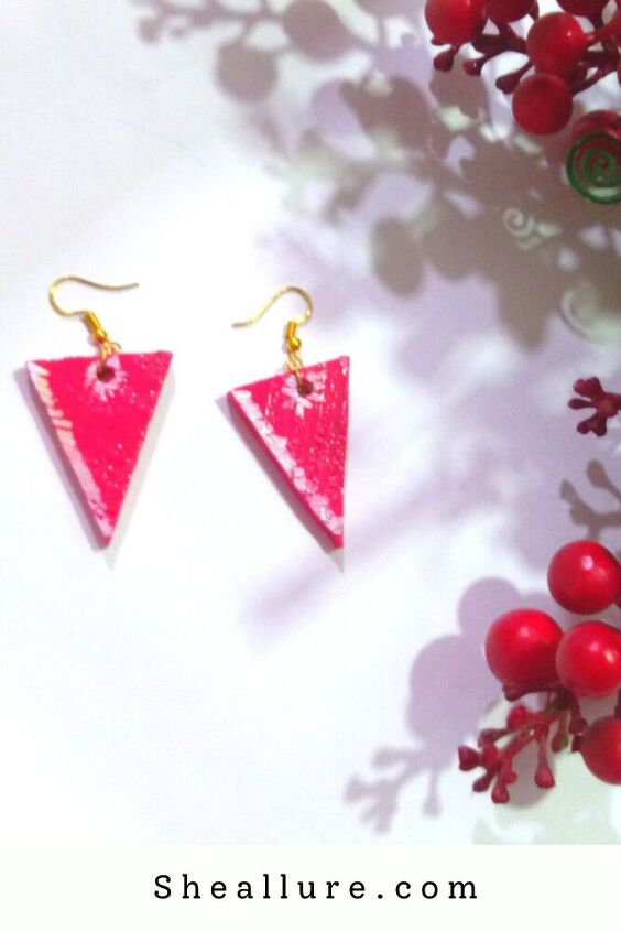 diy earrings made from pinewood recycle and inspire the world