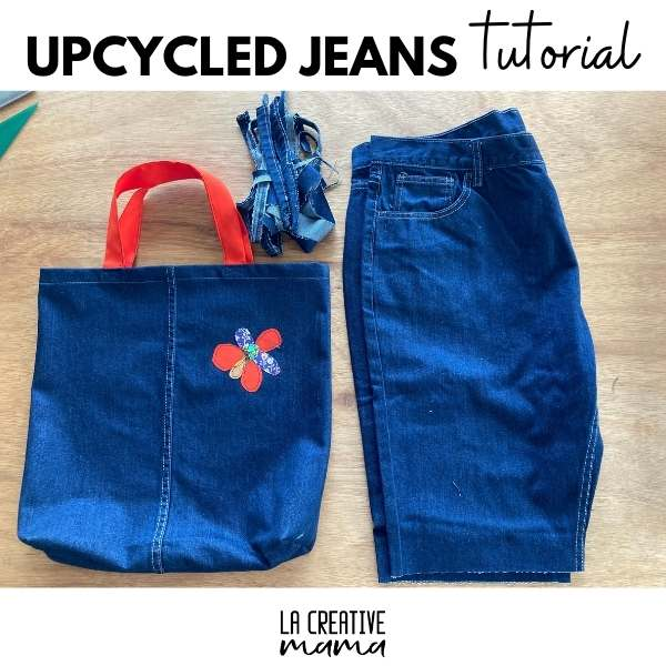 how to upcycle old jeans into a tote bag