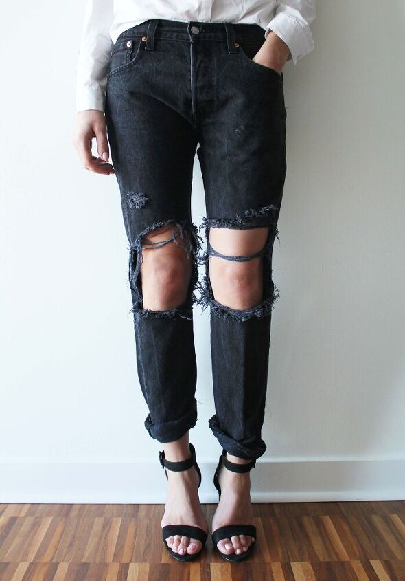 how to distressed denim