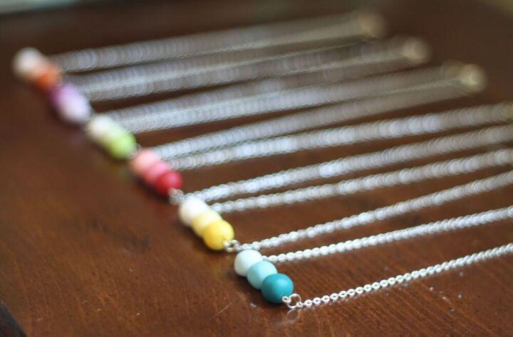 diy ombre clay necklaces
