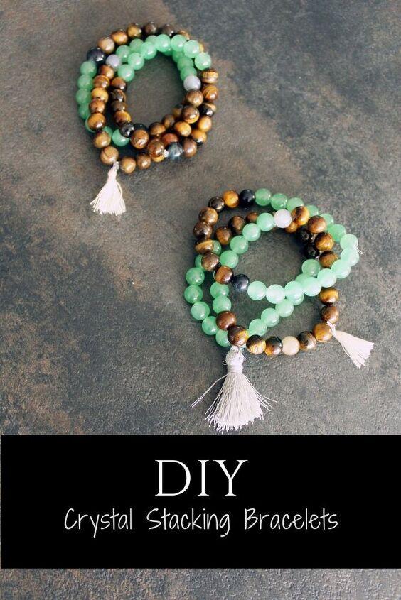 diy crystal elastic beaded bracelets make your own stone bracelets