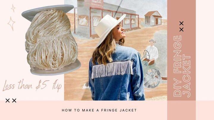 how to make a fringe denim jacket easy cheap diy