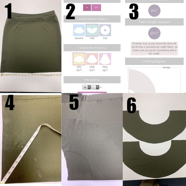 how to add a circle ruffle to bottom of skirt tutorial