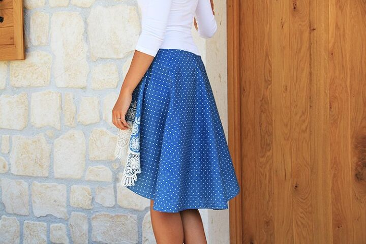how to sew women s high low skirt lace, THE PATTERN FOR WOMEN S HIGH LOW SKIRT LACE