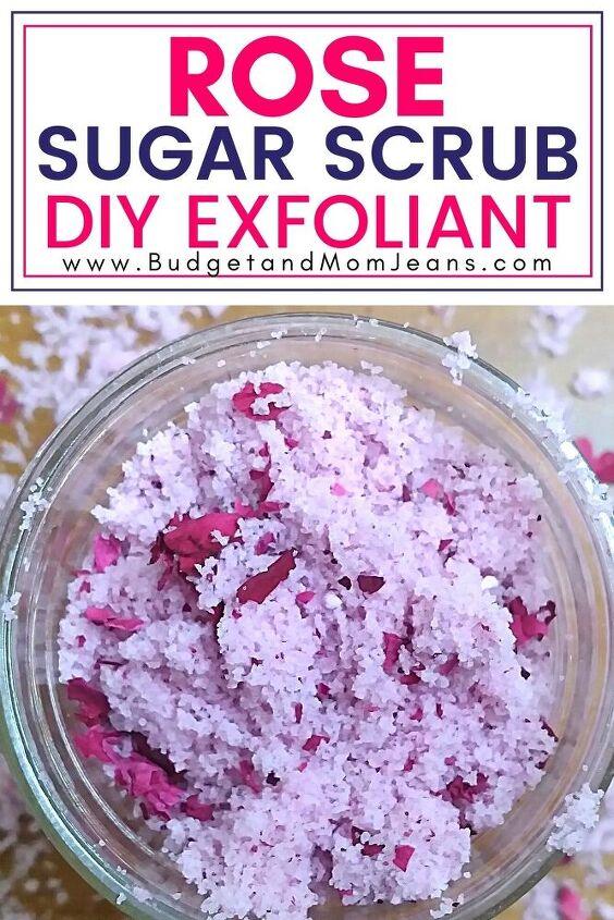 rose sugar scrub recipe luxury diy skin exfoliant