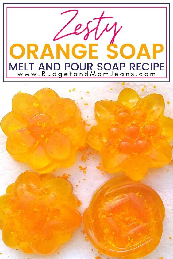 zesty orange soap melt and pour soap recipe, Pin it for later