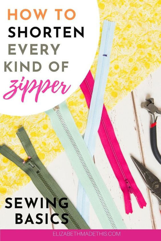 how to shorten a zipper every which way to sunday