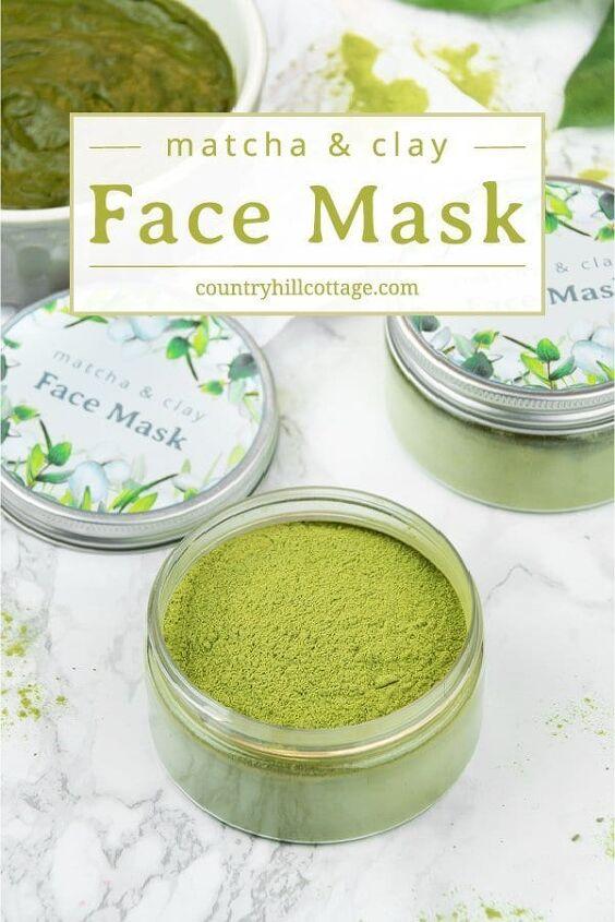 matcha green tea clay mask for glowing skin