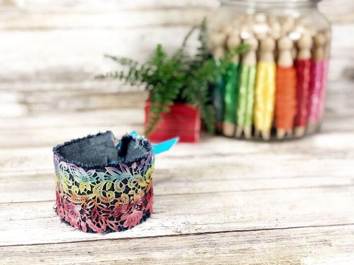 easy rainbow cuff bracelet with liquid sculpey