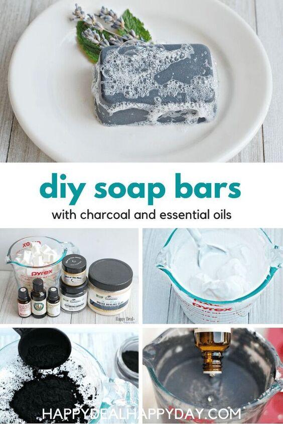easy diy charcoal in soap recipe