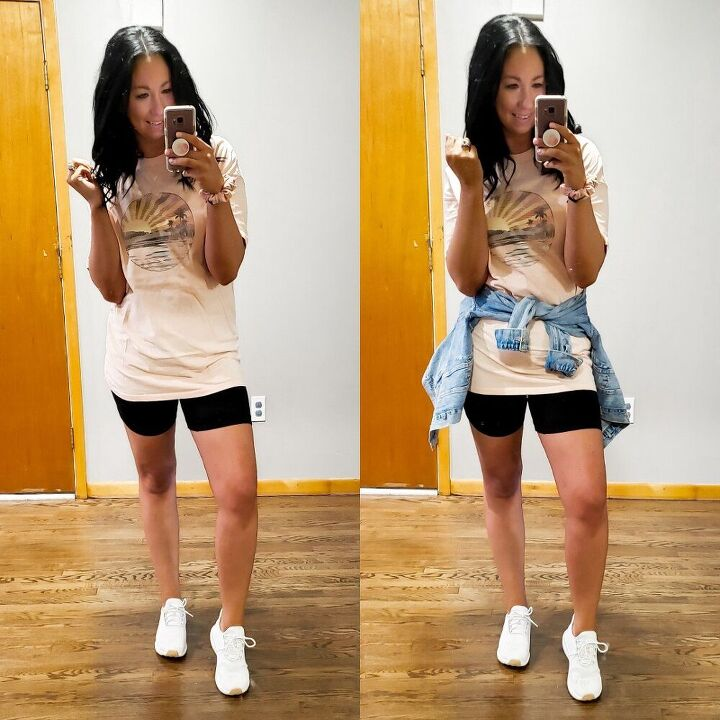styling biker shorts casual to dressy