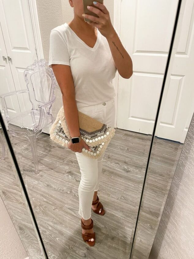 how to style a white tee