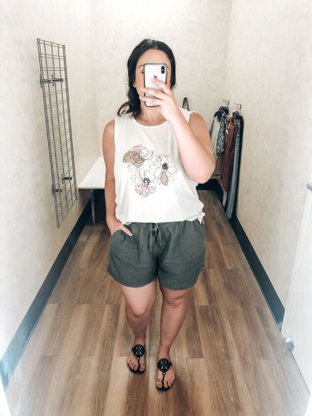 ways to style olive linen shorts