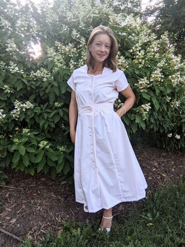 making a dreamy 50 s gingham dress