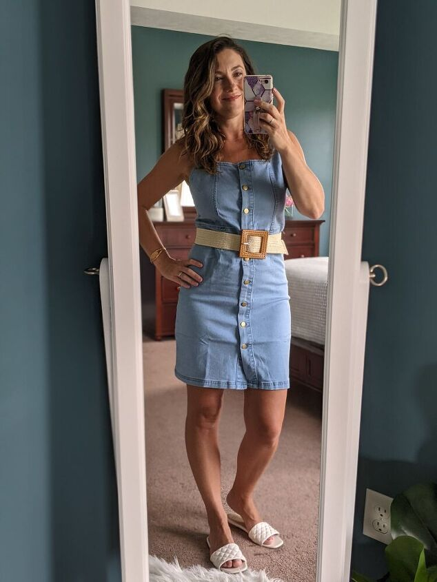 styling a denim dress for summer and beyond