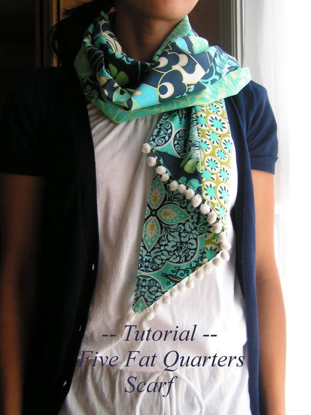 tutorial five fat quarters scarf