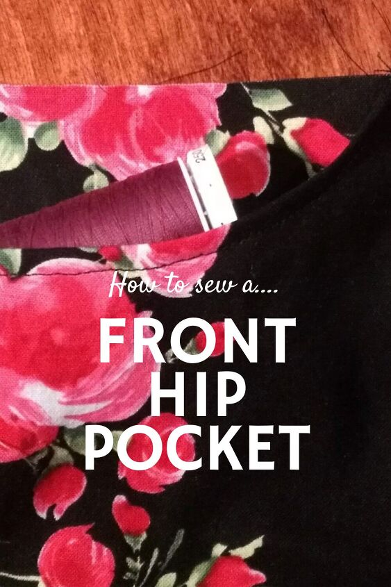 how to sew a front pocket on pants