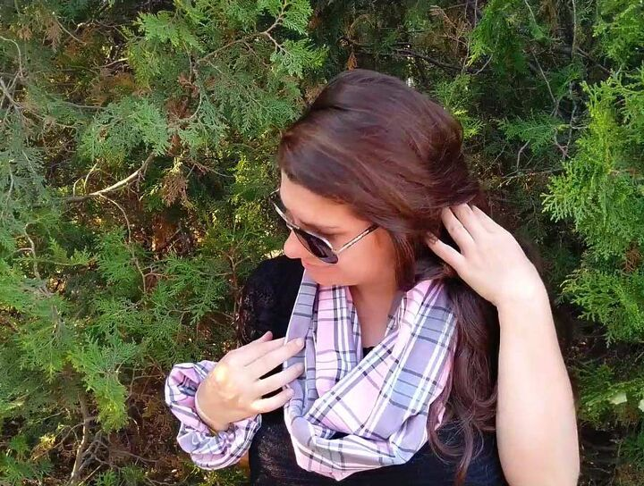 diy infinity scarf in just minutes