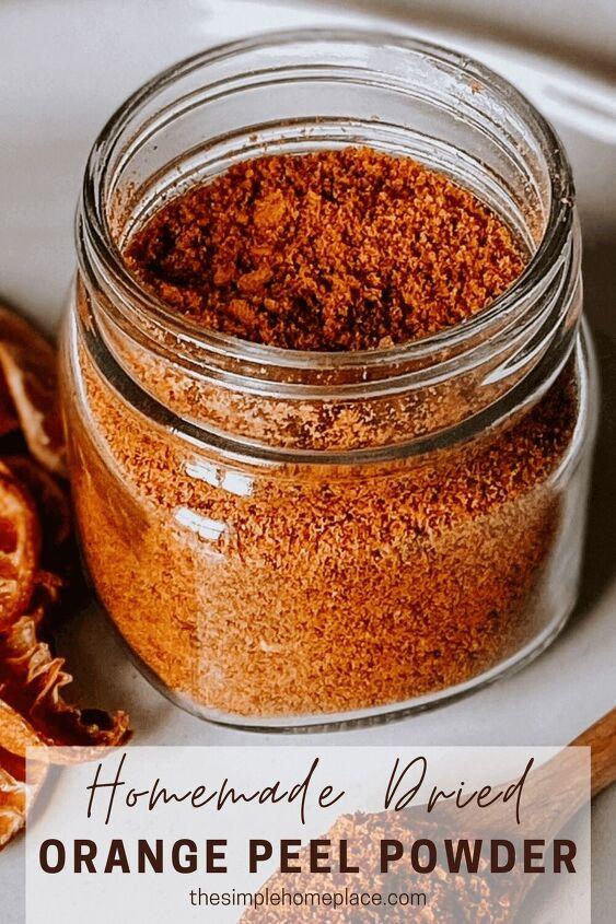how to make orange peel powder