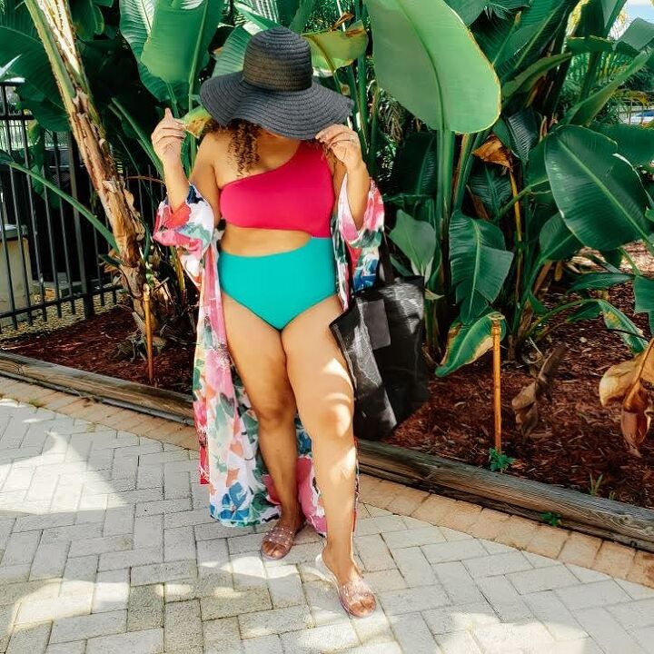 diy marley one piece swimsuit and self drafted cover up